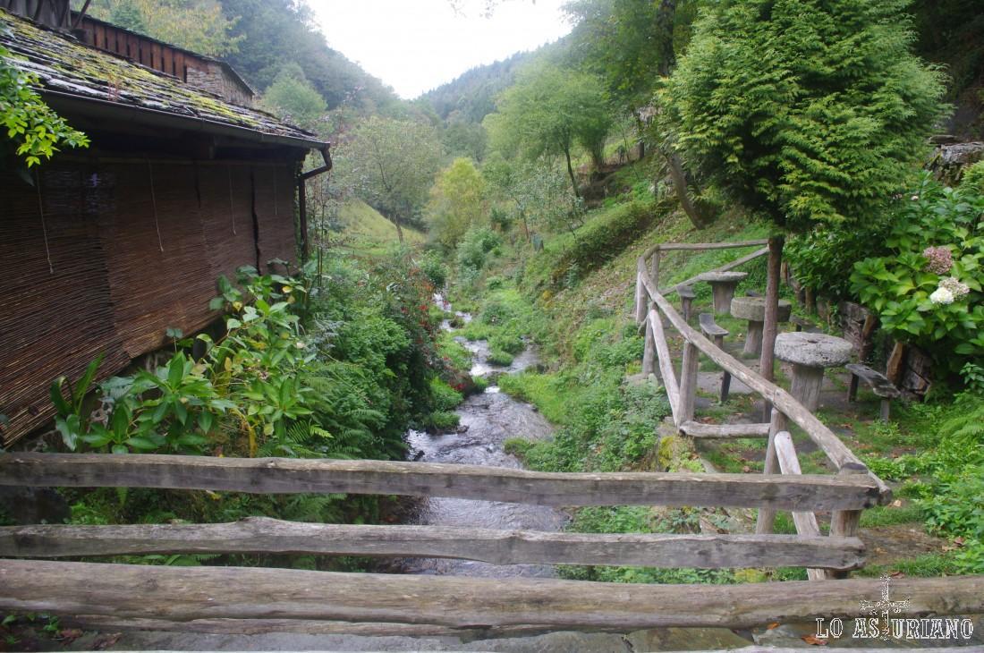 Río As Mestas, a su paso por Os Teixois.