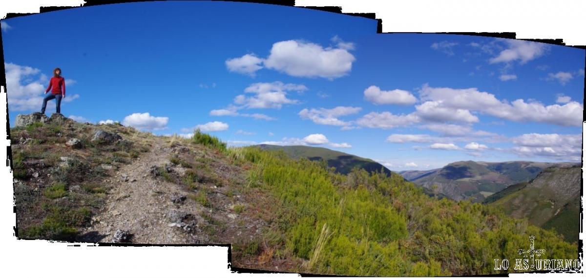 Arriba del mirador del Montecín, 1017 msnm.