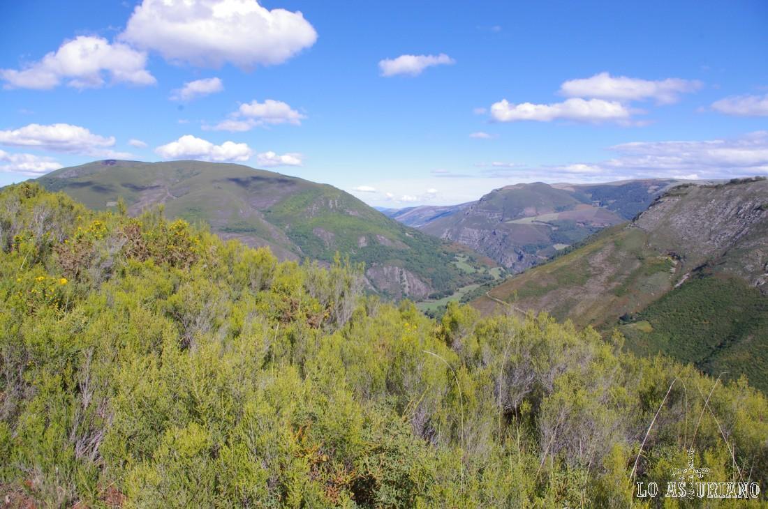 Vistas al este desde el Montecín.