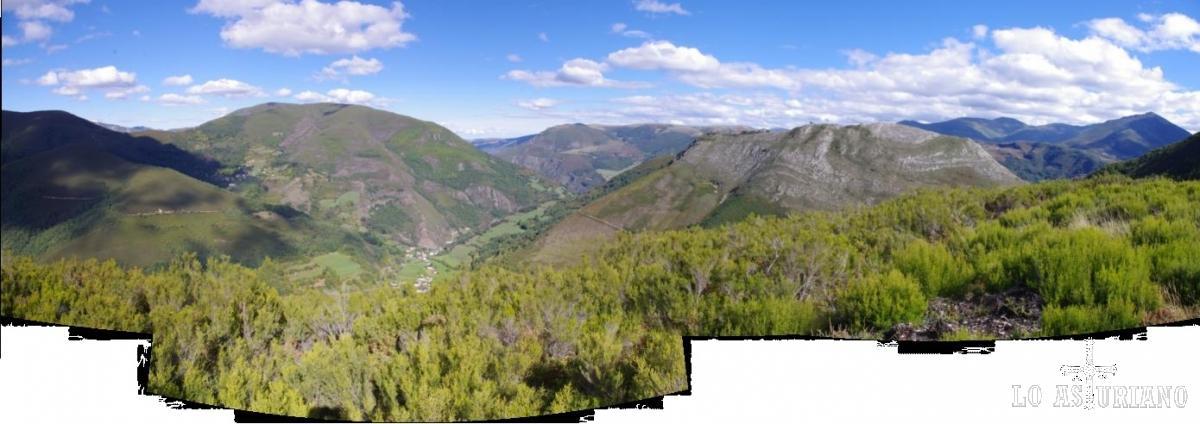 Vistas del valle del Muniellos, desde el mirador del Montecín.