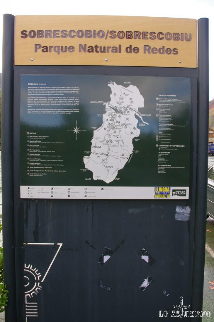 El Parque Natural de Redes tiene una superficie total es 377,36 km², comprendiendo los concejos de Caso, con 307,94 km² y Sobrescobio con 69,42 km². Fue declarado Parque Natural en 1996. En septiembre de 2001 fue incluido por la Unesco en la red mundial de Reservas de la Biosfera.