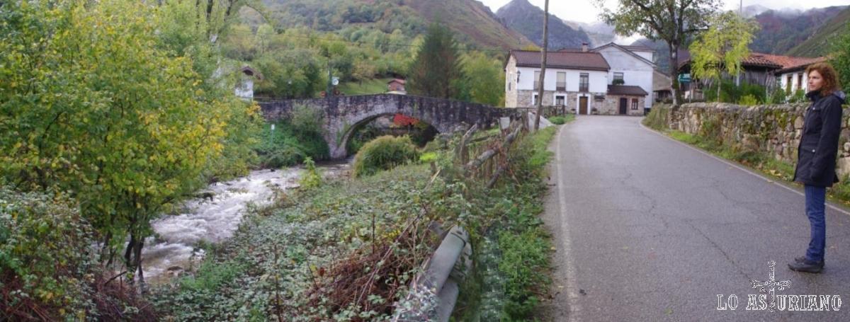 Río Alba y puente de San Andrés de Agües.