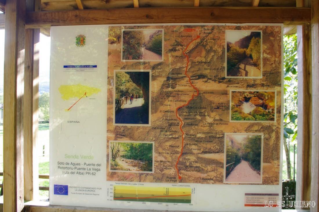Panel indicador de nuestra increíble ruta. Disfrute máximo en el Parque Natural de Redes!