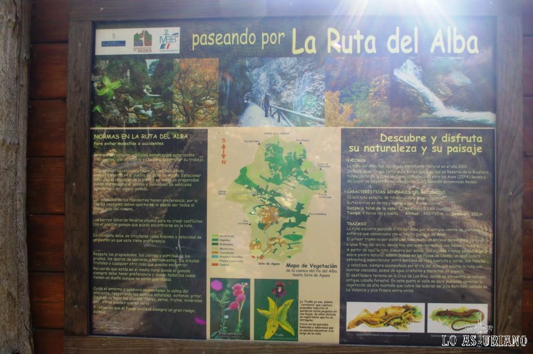En toda la ruta tienes paneles explicativos sobre la flora y la fauna. Recuerda que estamos caminando por una Reserva de la Biosfera.