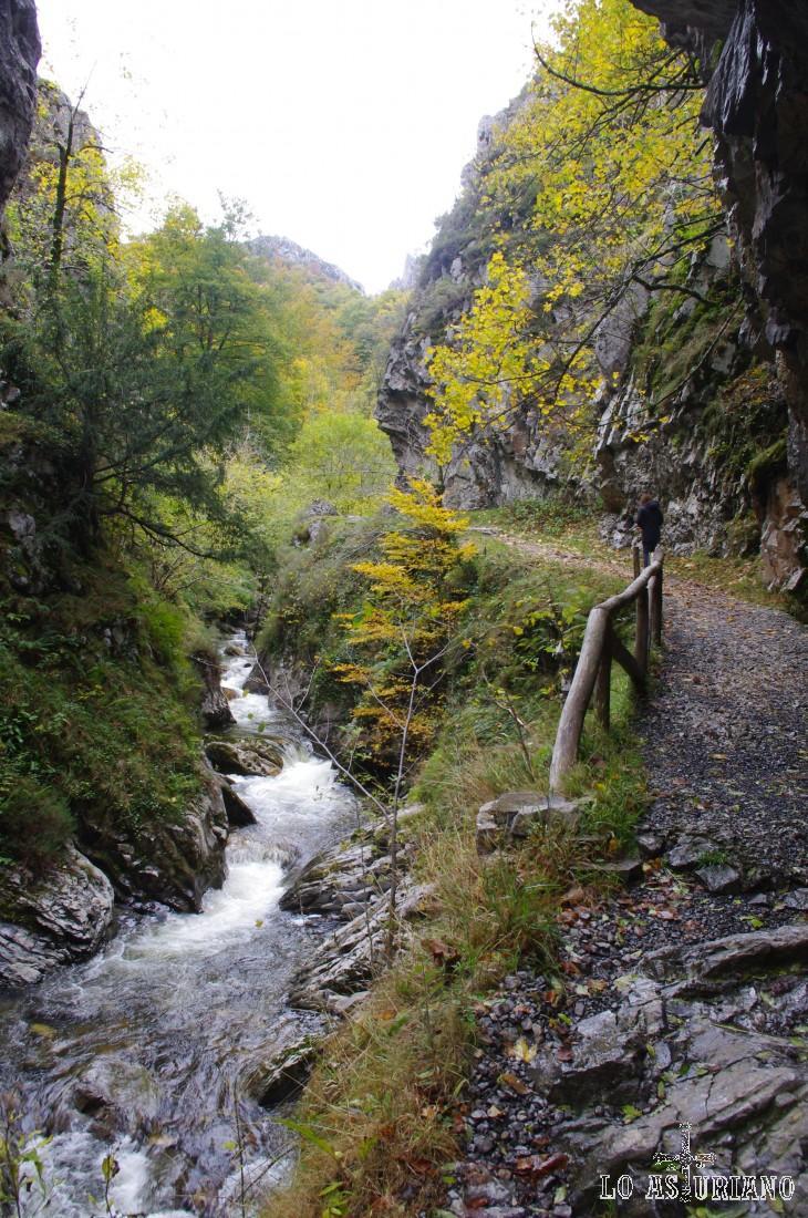 El Alba muestra sus últimas cascadas, antes de la Cruz de los Ríos.