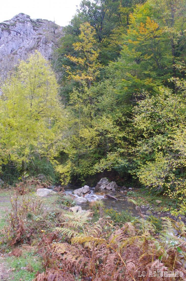 El río Alba en la Cruz de los Ríos.