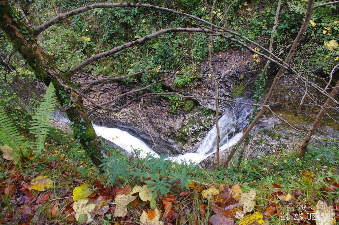 Una de las innumerables caídas de agua del río Alba.