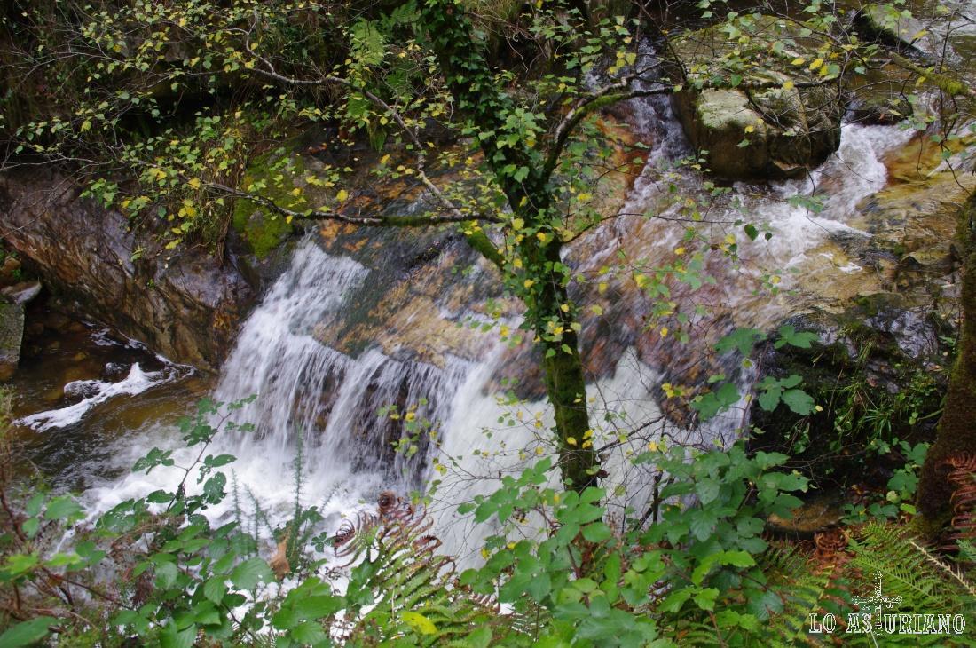 Una de las incontables cascadas de la ruta.