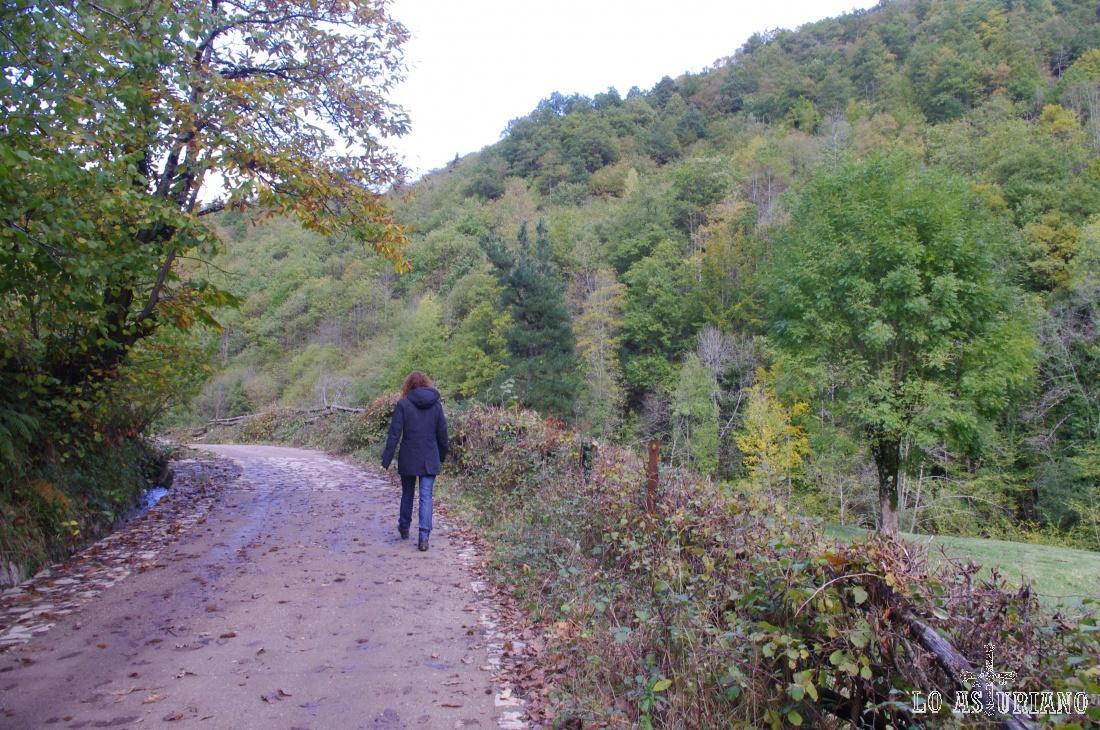 Cerca de Soto de Agües, pasado ya el Retortoriu, en la ruta del Alba.