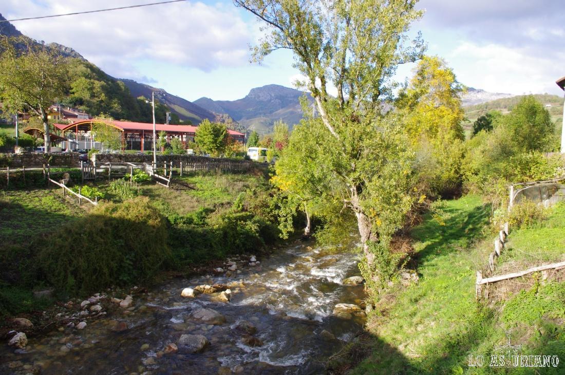 El río Alba en Soto de Agües, a 2 km de su desembocadura en el embalse de Rioseco.