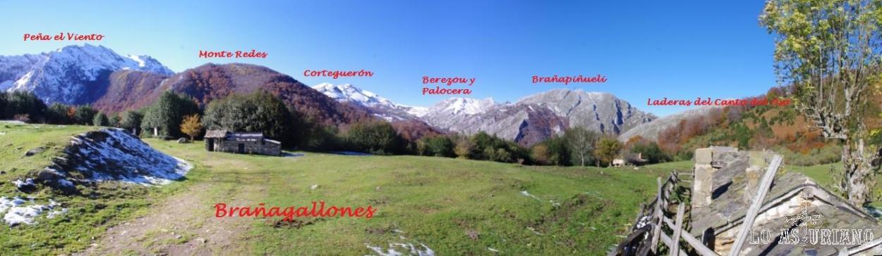 Cimas del valle del río Monasterio, desde Brañagallones. Parque Natural de Redes.