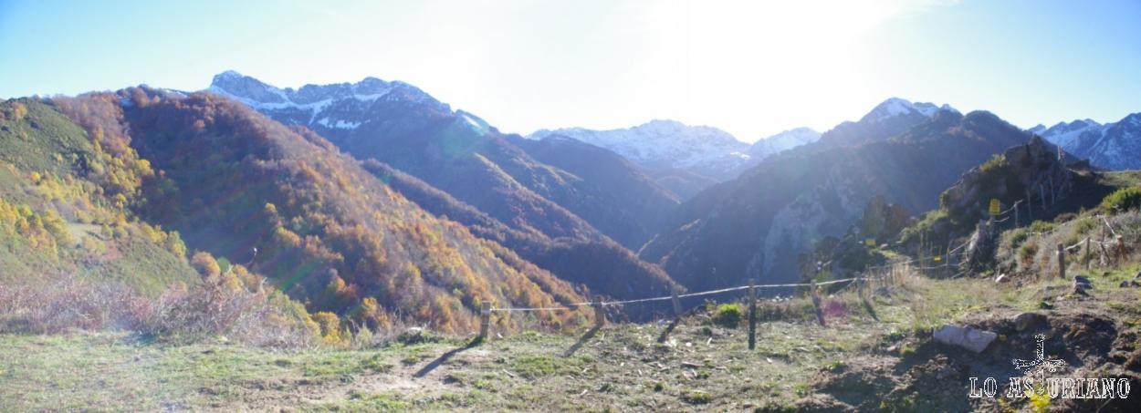 El angosto valle del Monasterio.