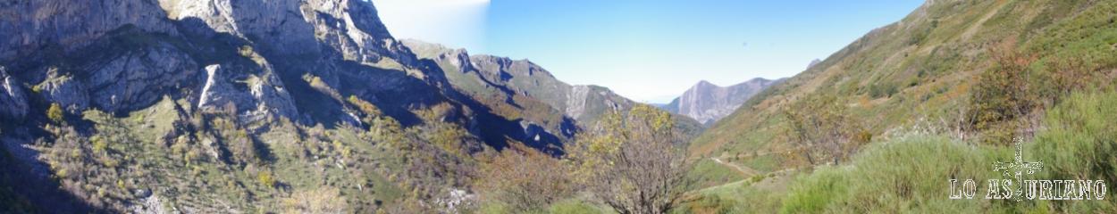 Perspectiva del valle de Saliencia desde el Alto de la Farrapona.