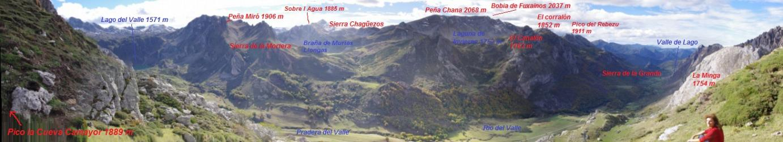 Cimas del entorno del Valle del Lago, en el Parque Natural de Somiedo. Este precioso valle, acaba en la parte superior, en el Lago del Valle, el más grande de la Cordillera Cantábrica.