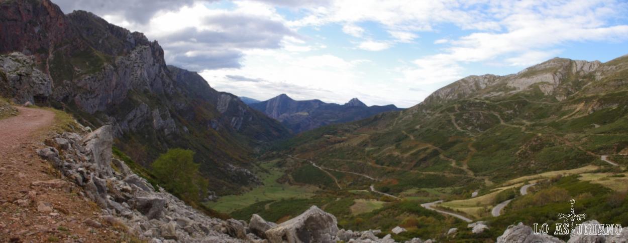 Vistas fabulosas desde la senda Farrapona-Lago de la Cueva.