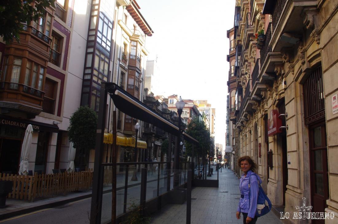 Centro de la bonita ciudad de Gijón.