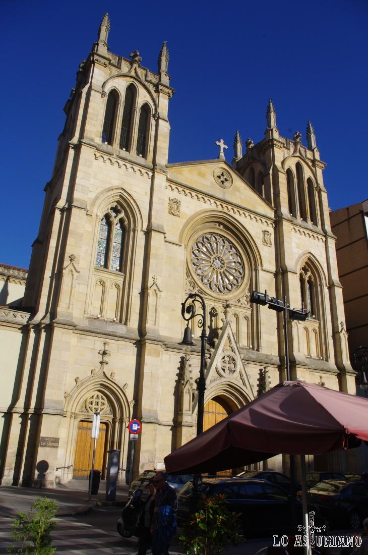 La Nôtre Dame de Gijón: la iglesia de San Lorenzo.