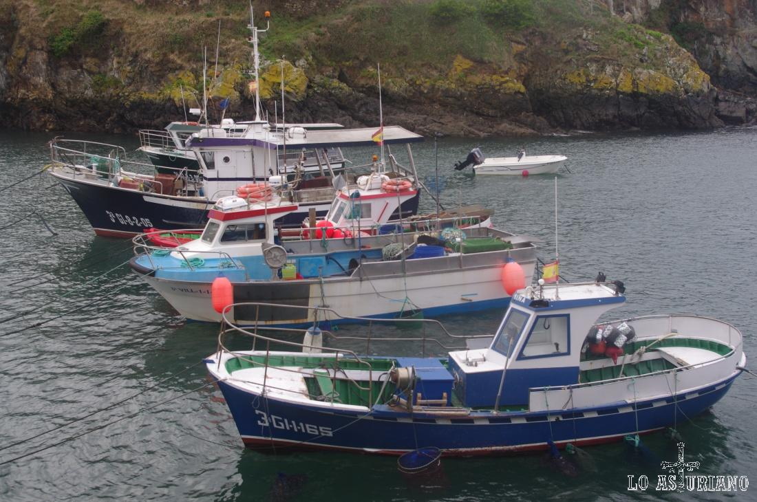 Barcos de pesca en Tapia de Casariego.