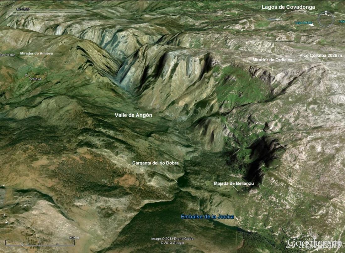 Localización del Valle de Angón