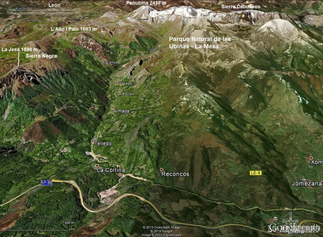 Donde está el Parque Natural de Las Ubiñas - La Mesa