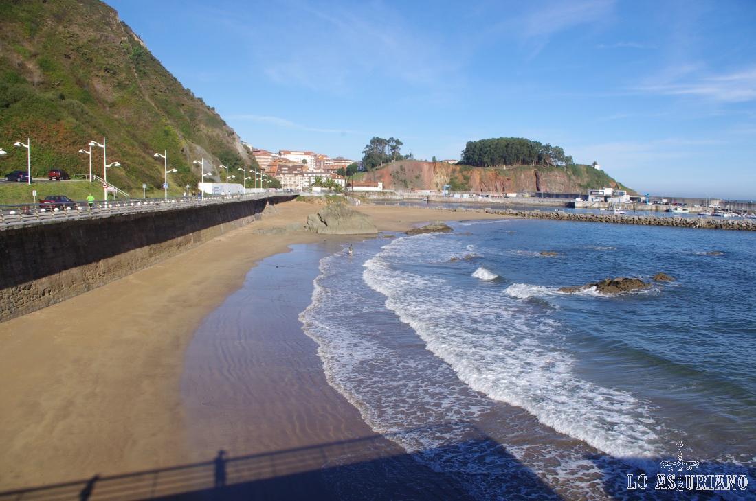La playa de Candás.