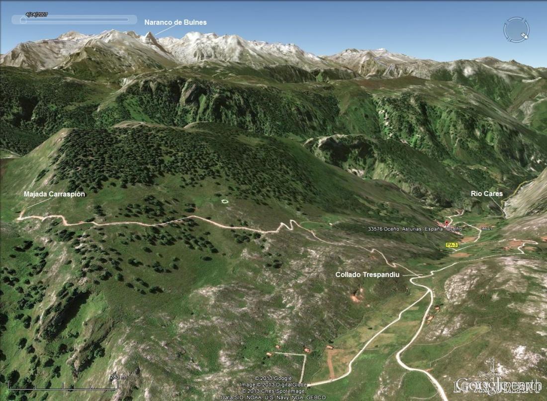 Esta es la subida hasta las majadas altas de Oceño, Peñamellera Alta.