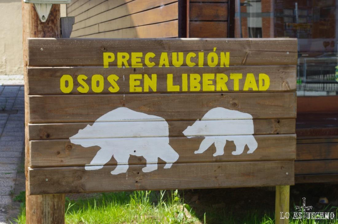 Es verdad, pero el letrero está en pleno centro de La Plaza, capital de Teverga... :)