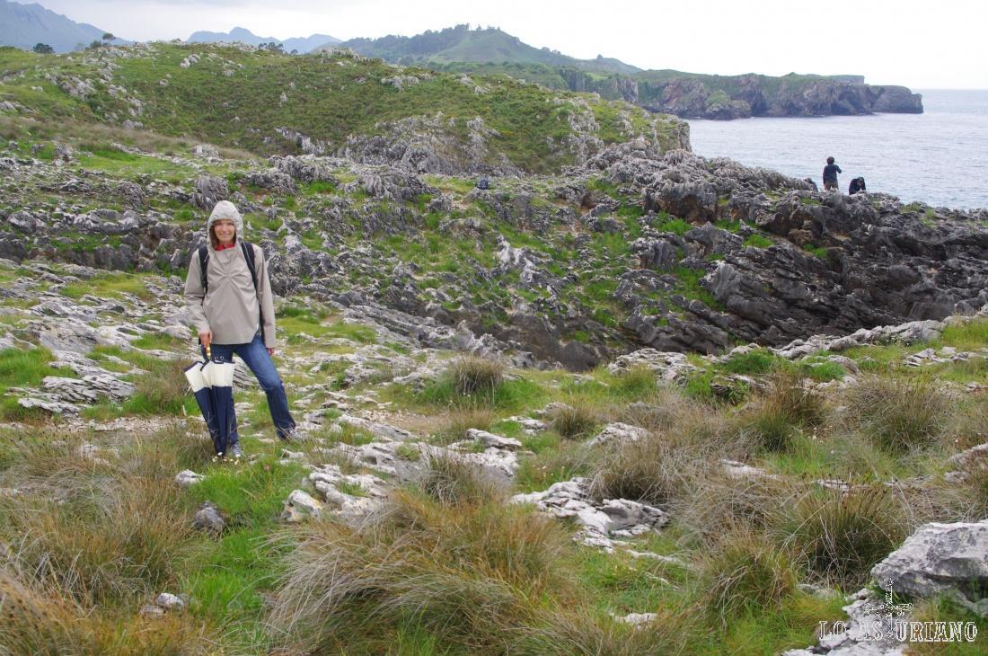 Esta es la zona de los bufones de Arenillas. No pudimos verlos porque la mar estaba muy tranquila y baja.