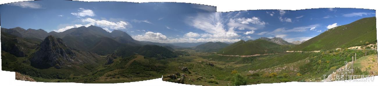 Fantástica panorámica del macizo de las Ubiñas, la Babia y la subida al Puerto de la Ventana.