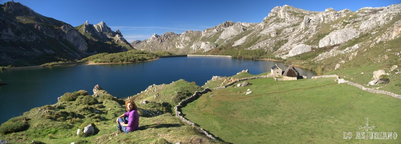 Panorámica del Lago del Valle, en Somiedo.