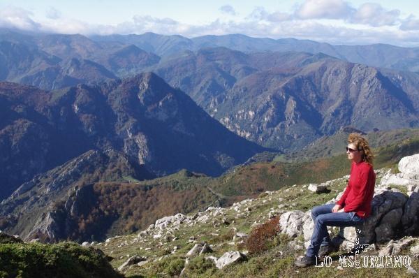 Descanso al lado de la cima; el desnivel acumulado de esta ruta es de apenas 550 metros.
