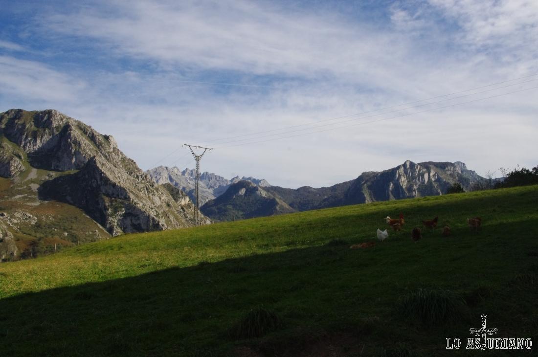 macizo occidental de los Picos de Europa desde Argolibio