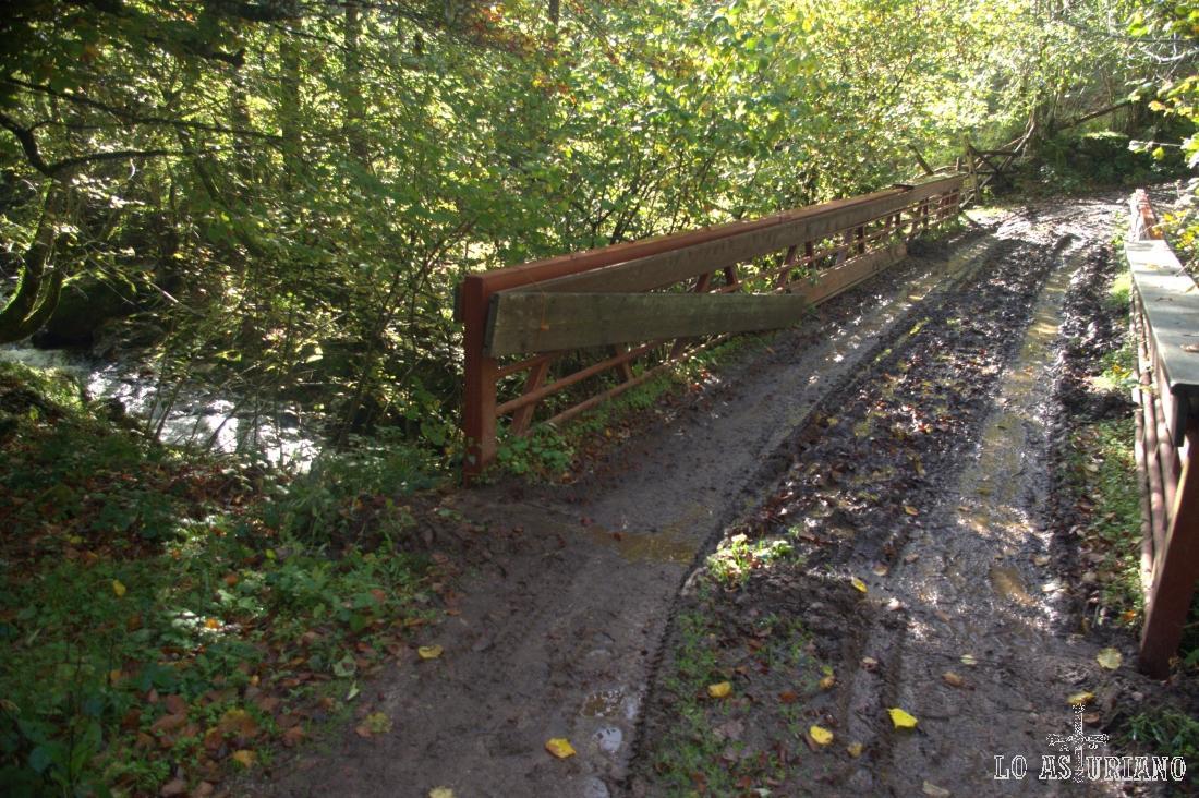 puente del Corral, donde tomamos ya la pista de subida