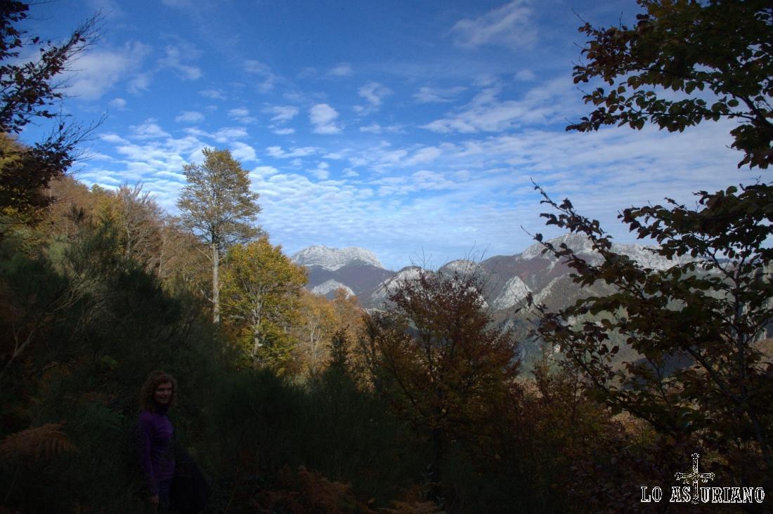 El Tiatordos y el Maciédome, desde un claro del bosque de Fabucado.