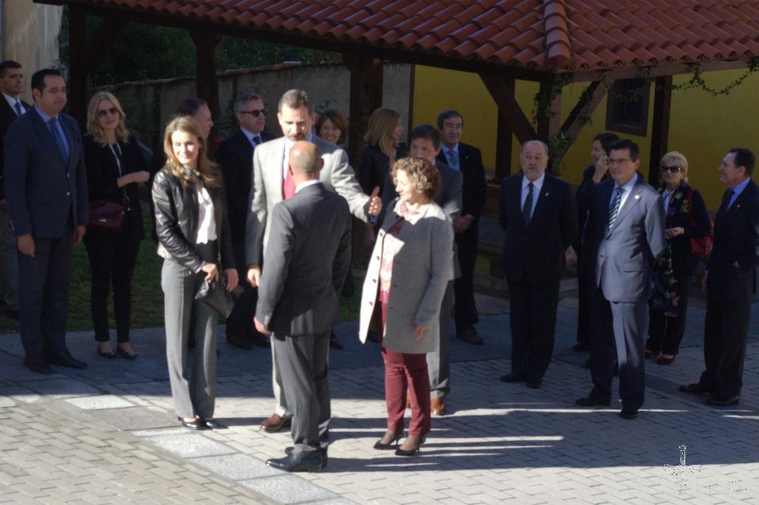 Los Príncipes de Asturias, en San Martin de Teverga. Casi nada... :)