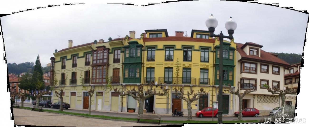 Avenida Fierros, de San Esteban de Pravia.