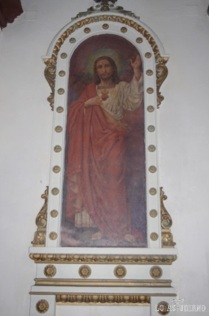 Otra preciosa escena en las paredes de la iglesia de Santa María, en Muros.