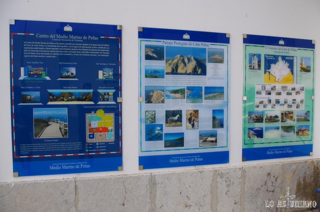 Paneles informativo sobre el paisaje protegido del Cabo de Peñas.