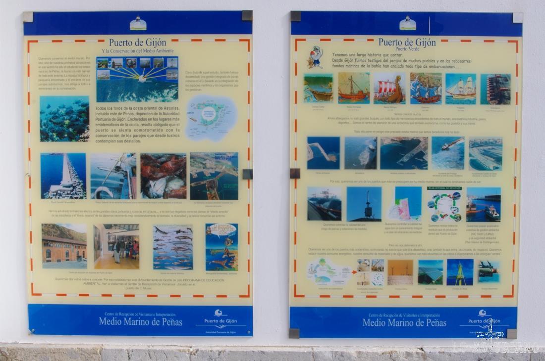 En el centro de interpretación, podemos aprender también sobre el proceso histórico del puerto de Gijón.