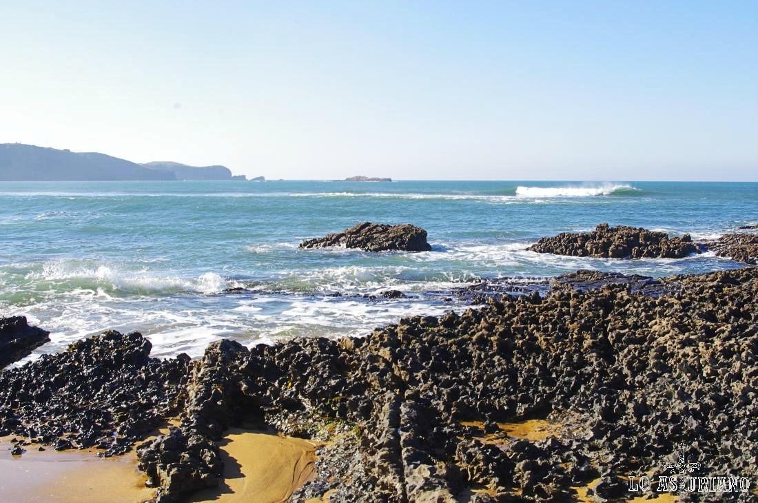 La preciosa playa de Verdicio.