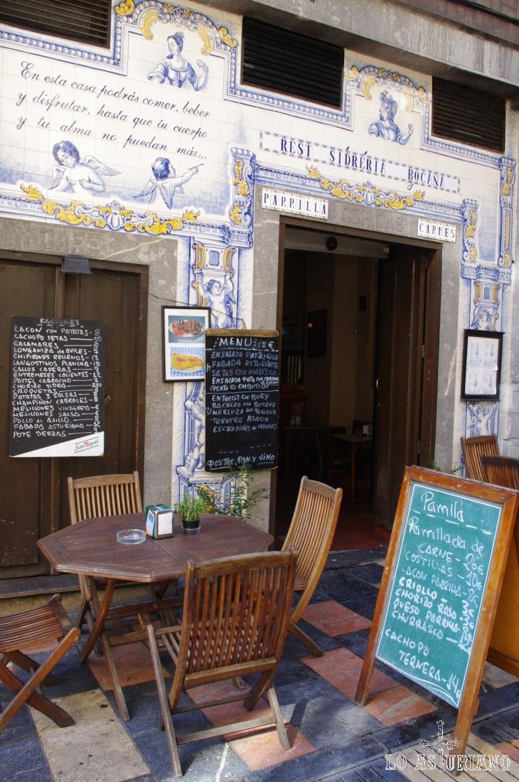 Restaurante del centro de Avilés.