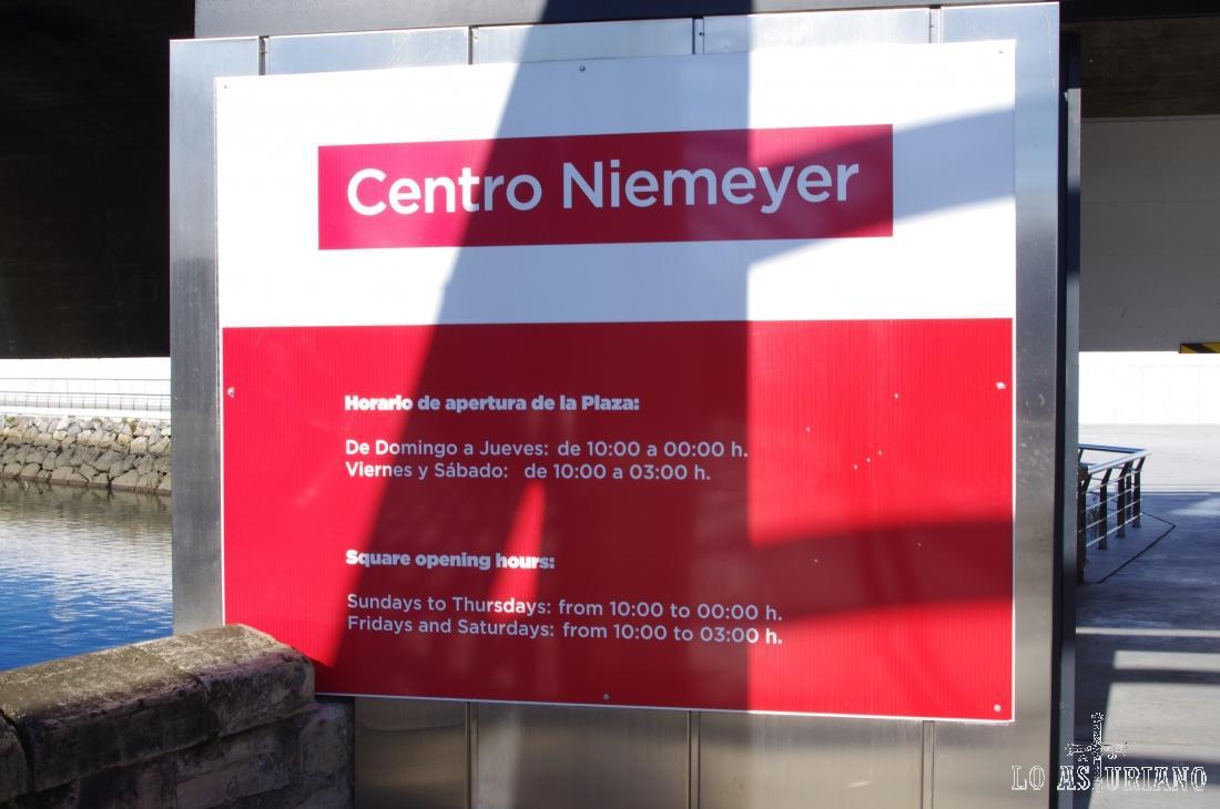 Entrada al centro Niemeyer.