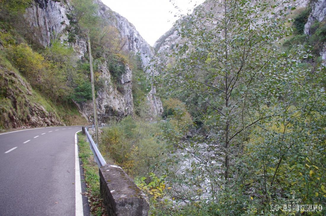 Río Sella atravesando el magnífico desfiladero de los Beyos.