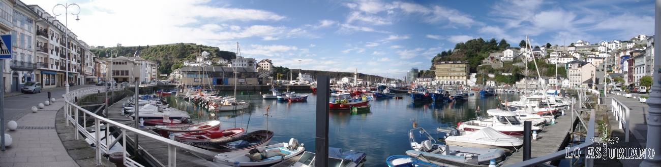 Puerto pesquero de la capital de Valdés: Luarca.